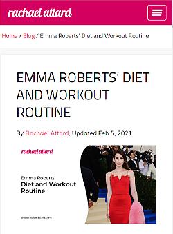Emma Robert's Workout Routine